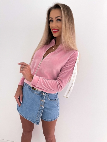 Różowa rozpinana bluza Love