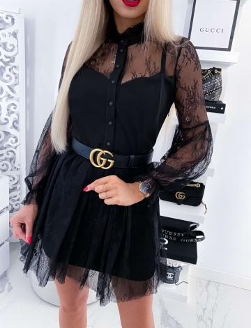 Czarna koronkowa Sukienka LIVIA