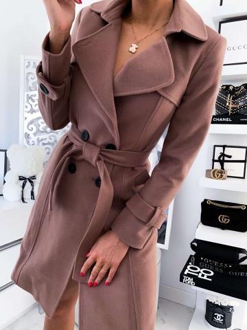 Karmelowy płaszcz LILA