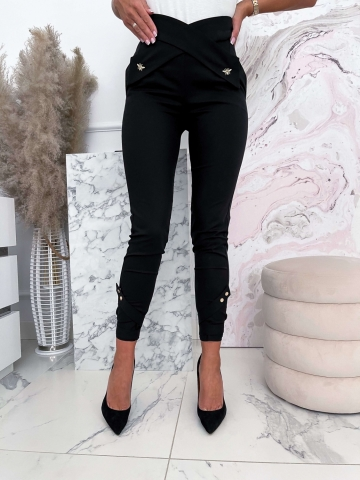 Czarne damskie spodnie Dragonfly