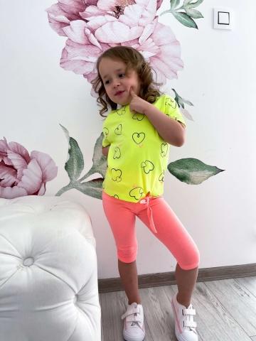 Dresowy neonowy komplet dla dziewczynki Lenobia