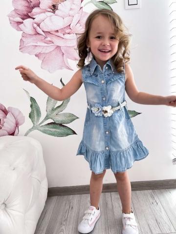 Jeansowa sukienka dla dziewczynki Lenobia
