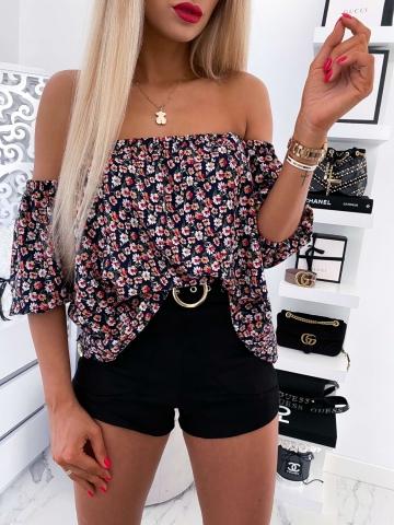 Bluzeczka hiszpanka w drobne kwiaty