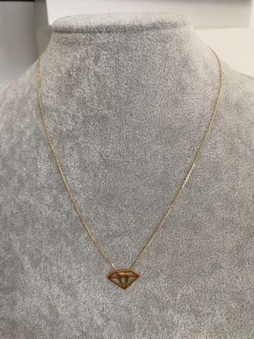 Naszyjnik pozłacany Diament