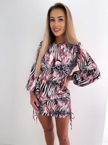 Sukienka zabudowana Animal z ściągaczami