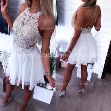 Sukienka Mercedes Kremowa