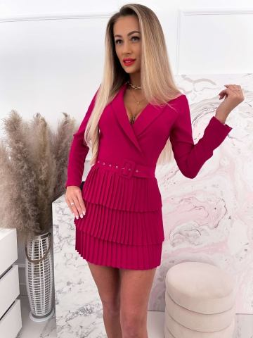 Sukienka plisowana Blanca Purple