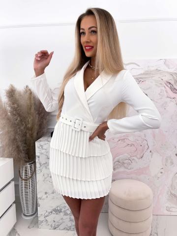 Sukienka plisowana Blanca White