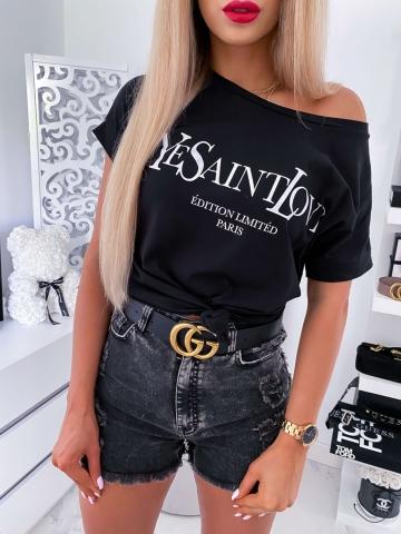Czarny T-shirt Ye Saint Love
