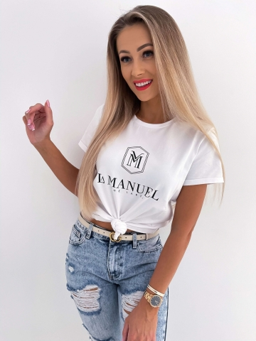 Biały damski T-shirt La Manuel