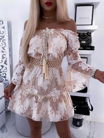 Beżowa Sukienka Boho Paradise