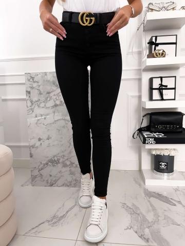 Czarne dopasowane spodnie Black Star
