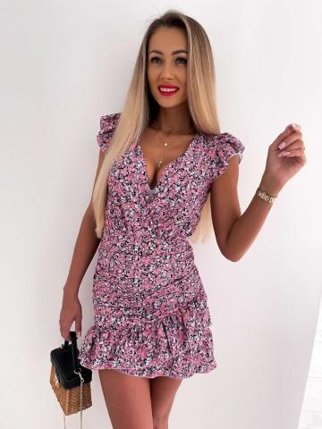 Sukienka dopasowana Katris w drobne kwiaty