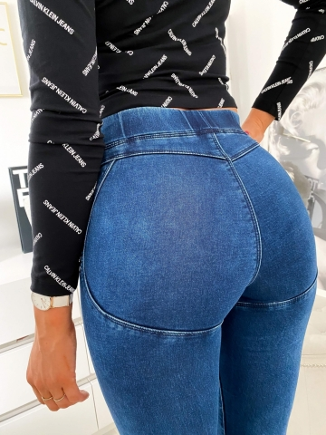 Spodnie damskie push-up granatowe