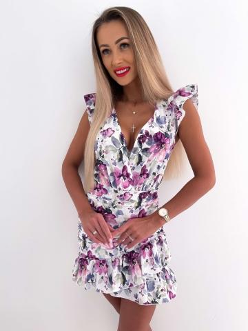 Sukienka dopasowana Katris w duże kwiaty