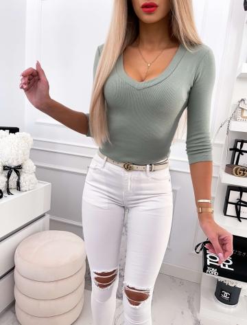 Bluzka damska LILI w kolorze khaki