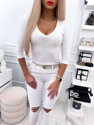 Bluzka damska LILI w kolorze Ecru