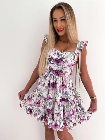 Sukienka rozkloszowana Katris w duże kwiaty