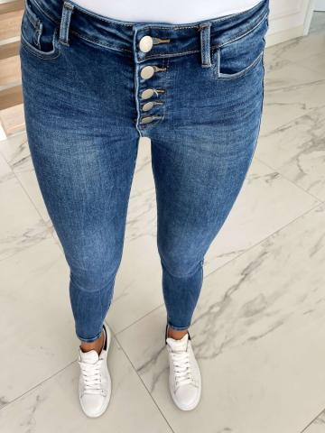 Spodnie Jenas guziki z wysokim stanem