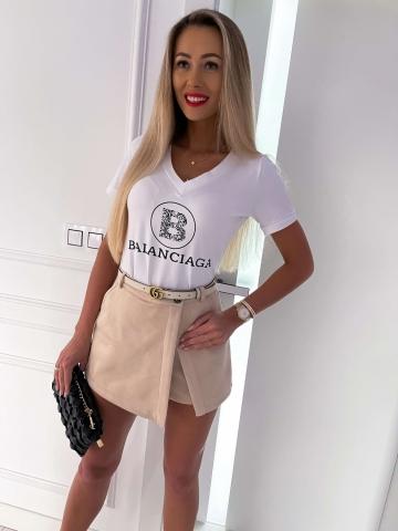 Biały T-shirt Balanciaga