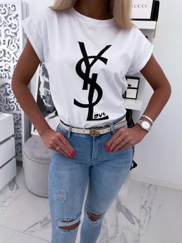 T-Shirt biały YSLOVE