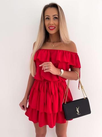 Czerwona sukienka hiszpanka Olivia