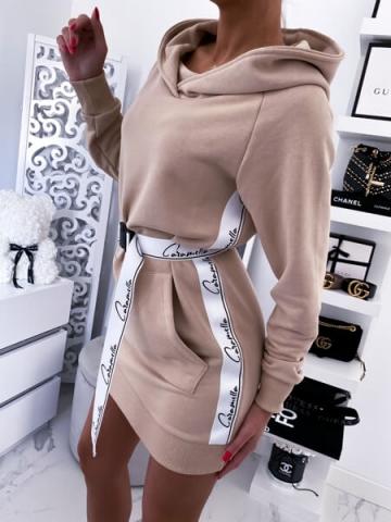 Sukienka Caramella z paskiem