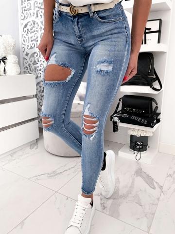 Spodnie dżinsowe z dziurami Lou