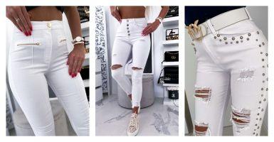 Stylizacje z białymi spodniami. Z czym je łączyć?